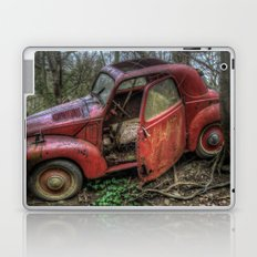 Old red Laptop & iPad Skin