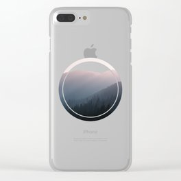Hazy Mountains III Clear iPhone Case