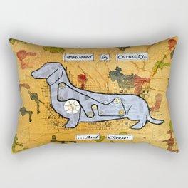 Dachshund - Powered by curiosity Rectangular Pillow