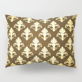 Background with Gold Fleur De Lis Pillow Sham