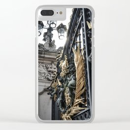 Side Glance at Buckingham Gates Clear iPhone Case
