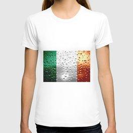 Flag of Ireland - Raindrops T-shirt