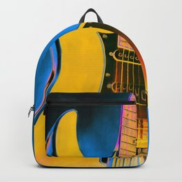 Guitar Painting, Pop Art Rock and Roll Backpack