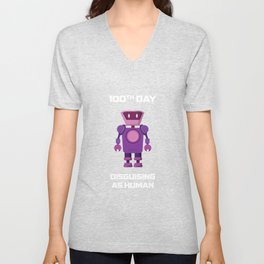 100th Day Disguising As Human T Shirt Unisex V-Neck