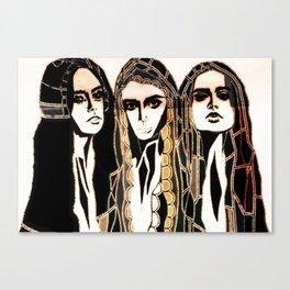 Willa, Scarlett and Poppy Canvas Print