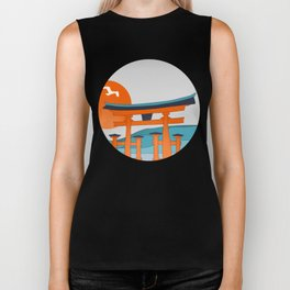 Japanese Shinto at Morning Biker Tank