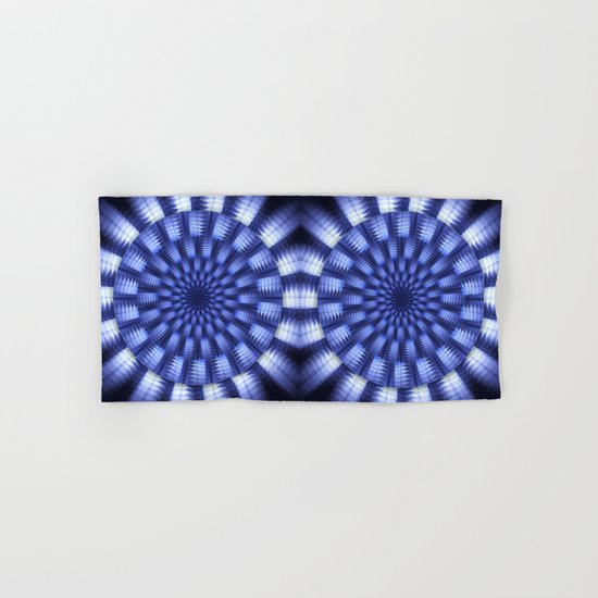 Round blue / white winter pattern design Hand & Bath Towel