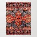 Kashan Poshti Central Persian Rug Print by vickybragomitchell