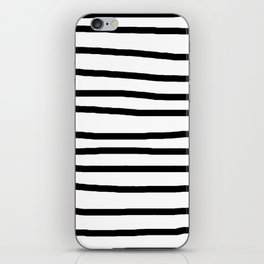 Simply Drawn Stripes in Midnight Black iPhone Skin