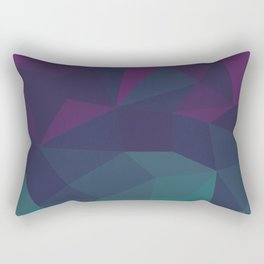 Abstract Geometric Gradient Pattern between dark Magenta and dark Cyan Rectangular Pillow