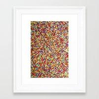 sprinkles Framed Art Prints featuring Sprinkles by Rupert & Company