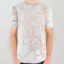 Pleasure Rose Gold All Over Graphic Tee