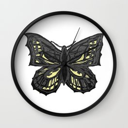 The Beauty in You - Butterfly #1 #drawing #decor #art #society6 Wall Clock