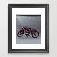 Fine art print, old moto interior design, hasselblad, still life, high quality photo (n°4) Framed Art Print