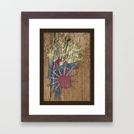 Sorrowful Heart of Mary Framed Art Print