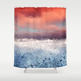 Fragments of a Sunset Shower Curtain