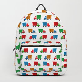 cartoony delivery trucks Backpack