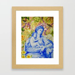 Madonna and Child with Finches Framed Art Print