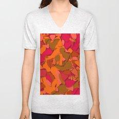 red camouflage Unisex V-Neck