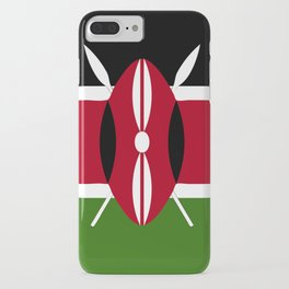 Kenya flag emblem iPhone Case