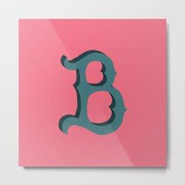 Uppercase B Metal Print