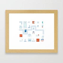 Casa de playa Framed Art Print