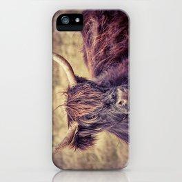 Long Horn Highland Cow iPhone Case