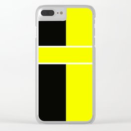 Team Color 6...yellow,black Clear iPhone Case