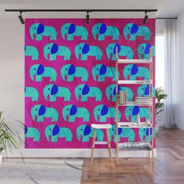 pink sky elephant ecopop Wall Mural
