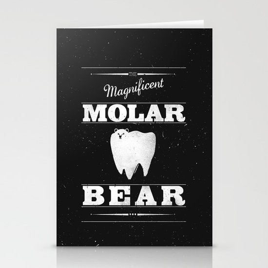 Molar Bear (Gentlemen's Edition) Stationery Cards