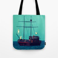 pirates Tote Bags featuring Pirates by Endless Summer