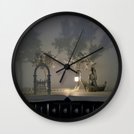 Charon and the door to a world of dreams Wall Clock