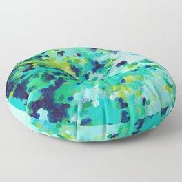 Aquamarine Addiction Floor Pillow