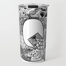 Cutout Letter Q Travel Mug