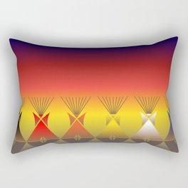 Night Tipi Rectangular Pillow