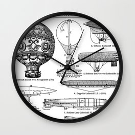 Airships / Air Balloons II Wall Clock
