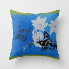 Chipper and the Bee Throw Pillow
