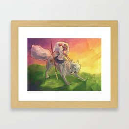 mononoke - fan art Framed Art Print