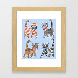 Cute kittys Framed Art Print