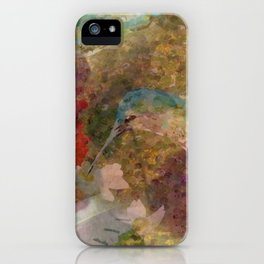 """ Hummingbird Pattern "" iPhone Case"