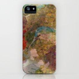 """ Hummingbird Pattern "" iPhone Case"