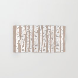 Woodcut Birches Hand & Bath Towel