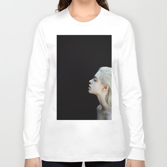 White and black Long Sleeve T-shirt