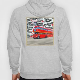 Classic London - Red Double Decker Bus Hoody