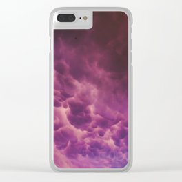Stormy Saturation Clear iPhone Case