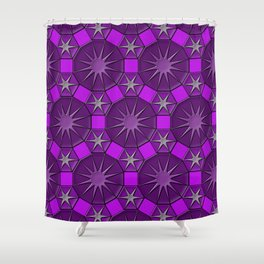 Dodecagons Shower Curtain