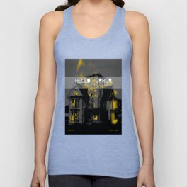 HelloHorror Issue 3 Cover - Haunted House Unisex Tank Top