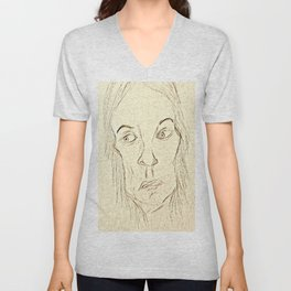Expressive Face Unisex V-Neck