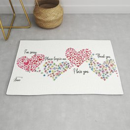 The Hearts and The Butterflies Rug
