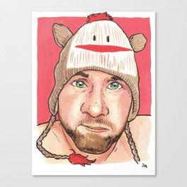 the Sock Monkey Boy Canvas Print
